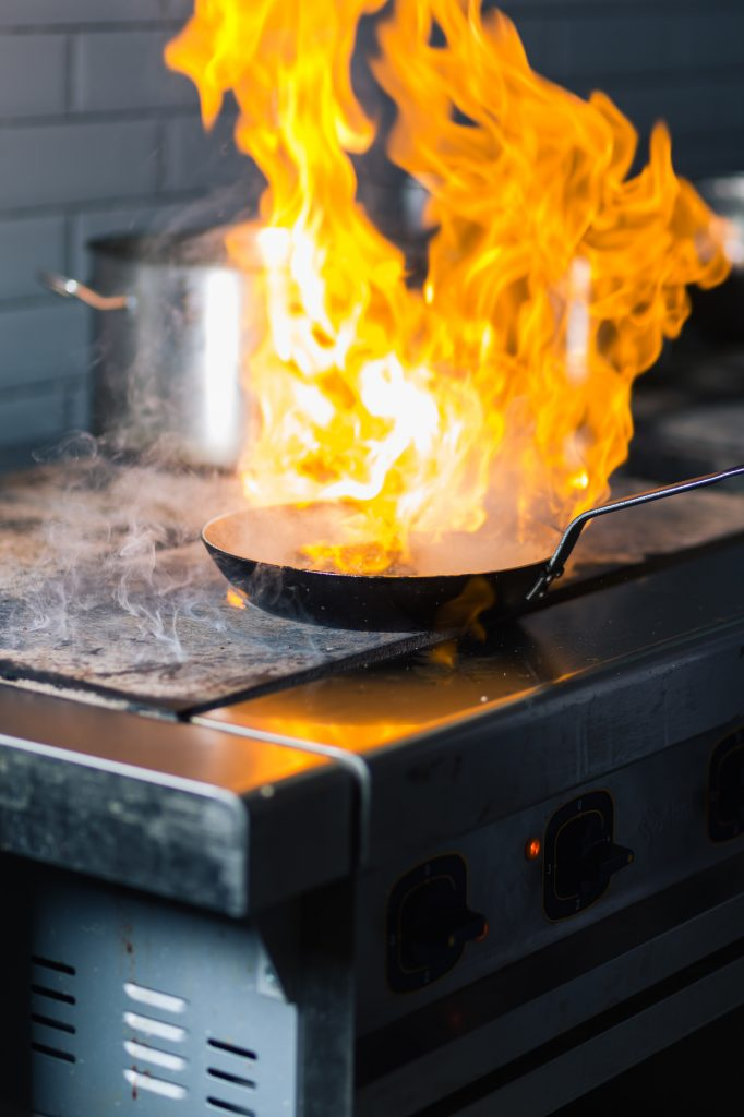 Cooking Pan on Fire