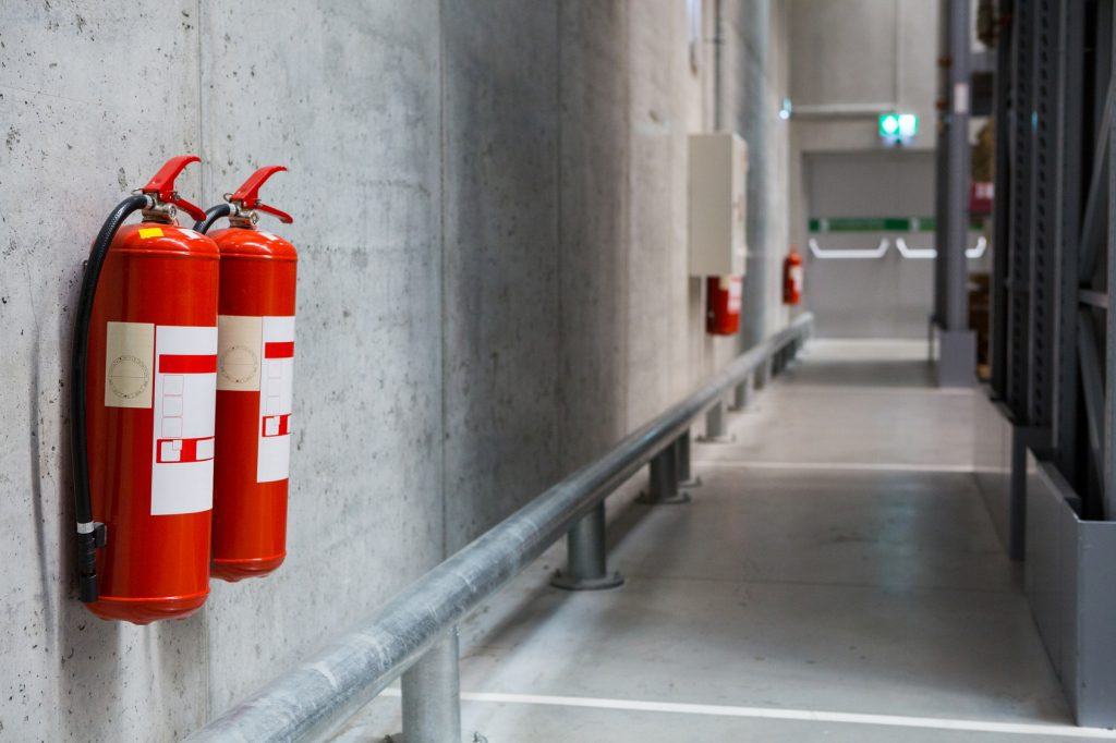 fire Extinguishers on the Wall