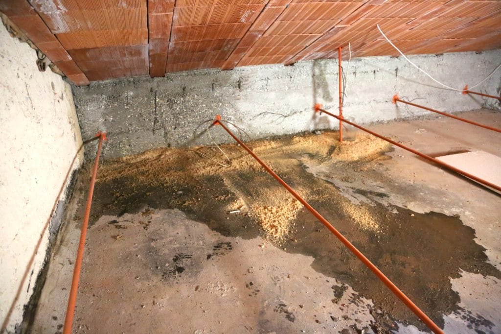 Water Damage in Crawlspace